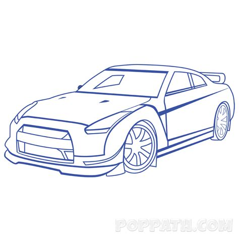 car drawing how to draw a race car pop path