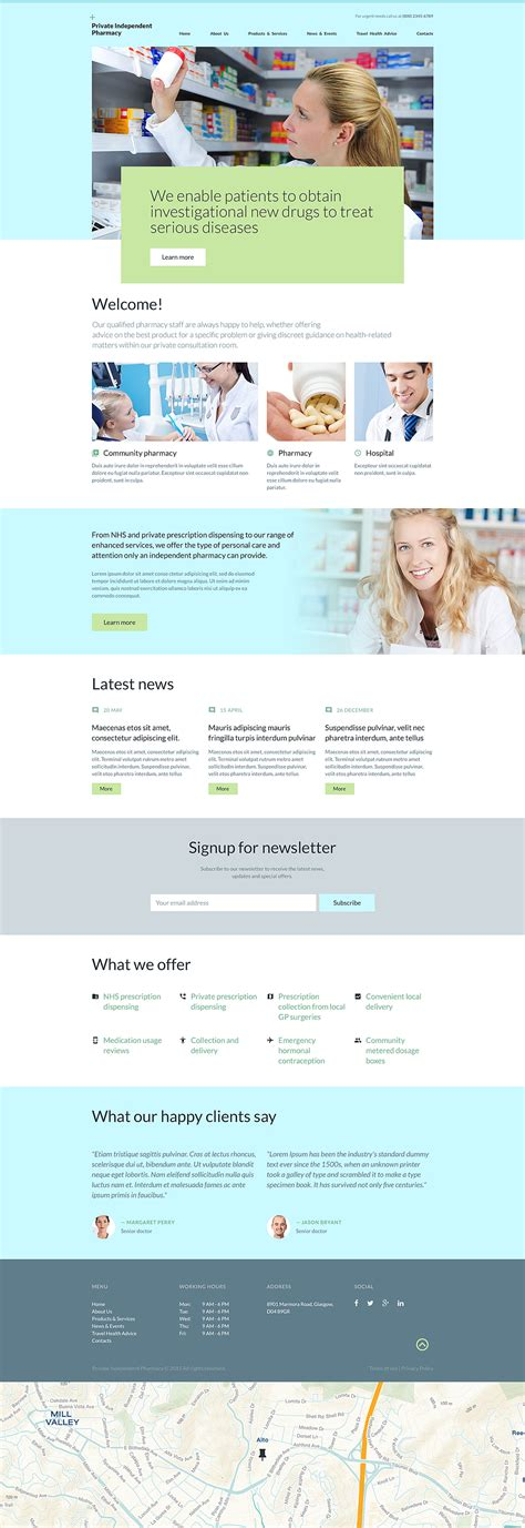 bootstrap templates for pharmacy drugstore website template