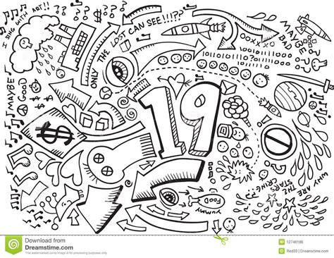 Doodle Sketch Drawing Vector Royalty Free Stock Image