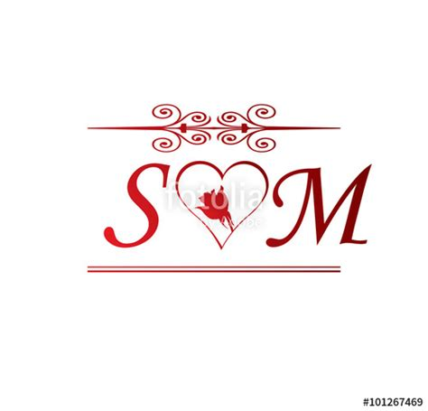 words celebrities wallpapers m s quot sm love initial with red heart and rose quot stock image and