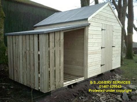 Shed With Wood Store by Shed With Log Store Attached