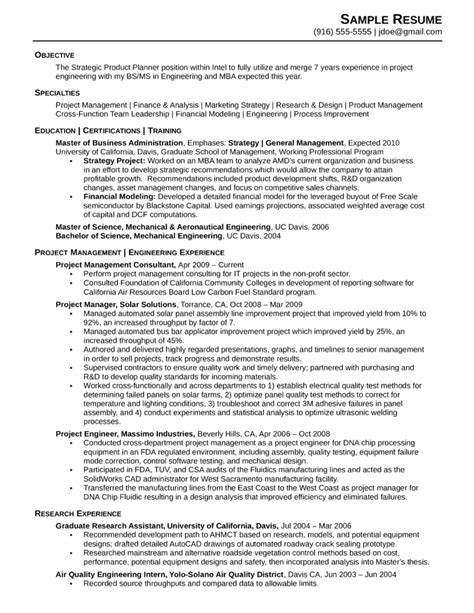 Resume Format For Engineering Manager One Page Engineering Manager Resume Template