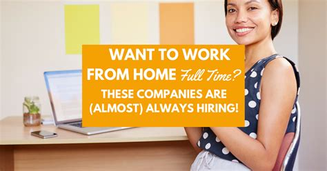 want to work from home time these companies are