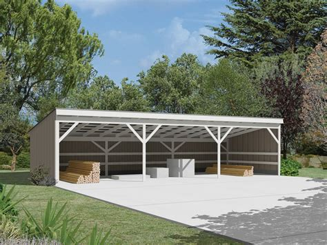Shop Garage Plans open front pole buildings images