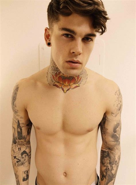 tattoo eye model eye candy stephen james lotus tattoo abs handsome