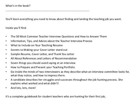 french teacher cover letter exle