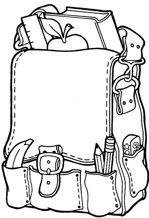 coloring page school free printable backpack coloring pages for preschoolers