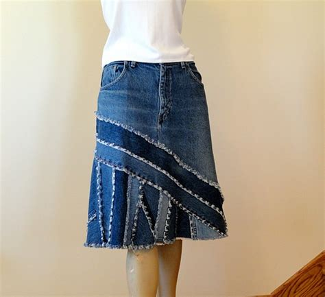 Handmade Skirts - upcycling your boring denim skirt earth divas