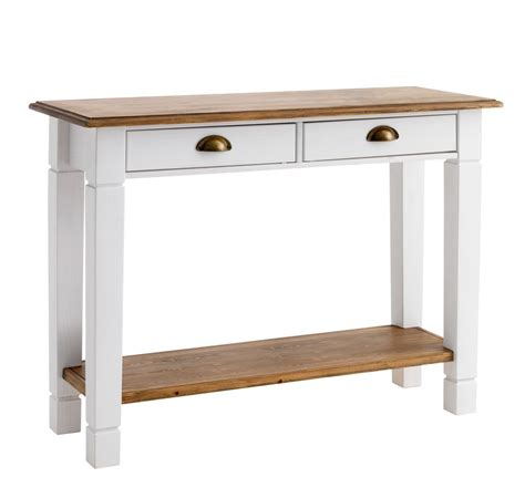 Jysk Side Table Console Table Ryslinge 38x100white Brown Jysk