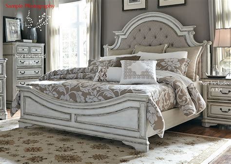 liberty furniture magnolia manor queen bedroom group liberty magnolia manor queen upholstered bed in antique white