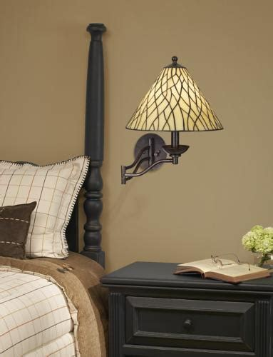 the style swing arm wall light adds pattern to the