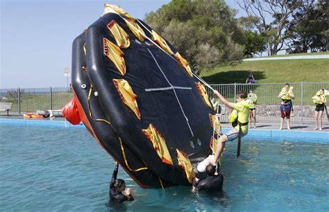 Student Survival Skill students plunge into sea survival skills south coast