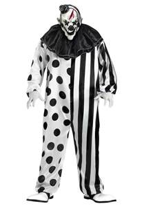 halloween mask and costumes men s killer clown costume