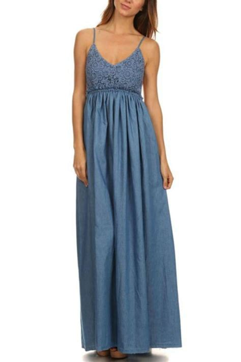 dresses by miss avenue chambray maxi dress from wilmington by the