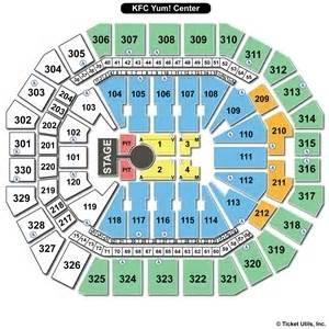 Kfc Yum Center Floor Plan Kfc Yum Center Seating Charts
