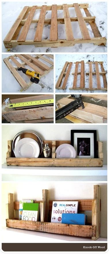 pallet shelf ideas pinterest