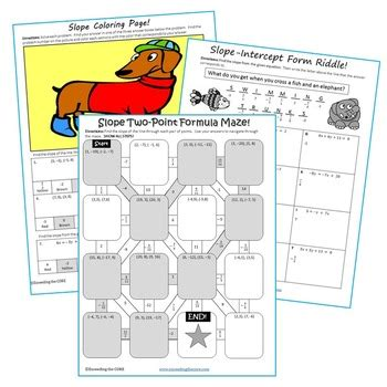 slope math is fun slope maze riddle coloring page fun math activities
