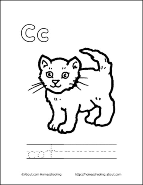 Letter C Coloring Book Free Printable Pages C Is For Cat Coloring Page