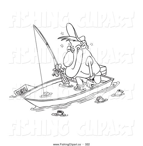 fisherman in boat colouring pages