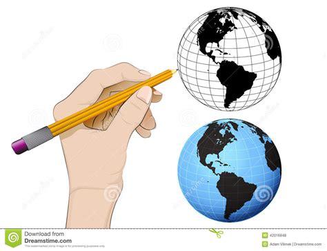 dibujos mas realistas del mundo globo del mundo de am 233 rica como vector humano aislado del