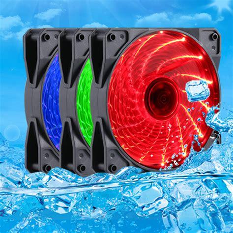 green led computer fan pc computer case heatsink cooler fan red blue