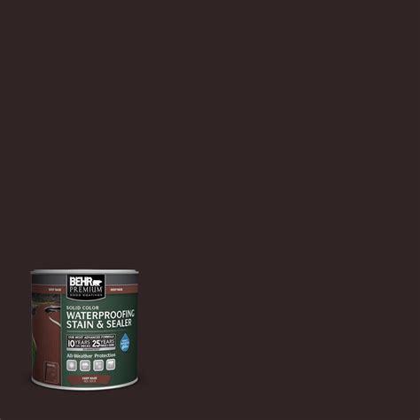 behr premium  oz sc  cordovan brown solid color