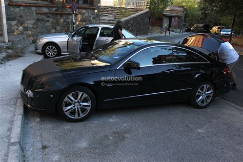 2014 mercedes e class coupe spyshots 2014 mercedes e class coupe facelift with less