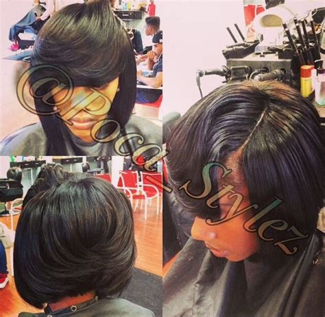 bump sew in weave styles bob sew in w invisible part sew in pinterest sew
