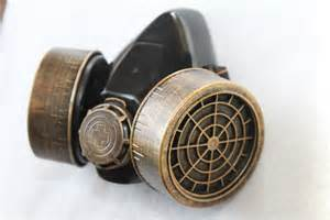 steampunk gas mask brass copper industrial goth roleplay