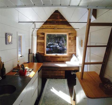 inside tiny hosues 190sf black white tiny house with a dash of color tiny