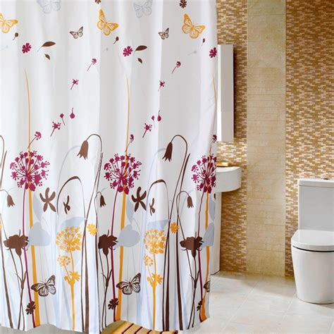 shower curtains and accessories set free shipping dandelion pattern terylene fabric thickening