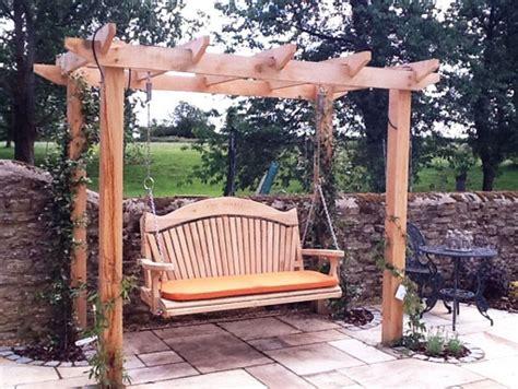 Pergola Swing - quality wooden swing seat and pergola pool landscaping