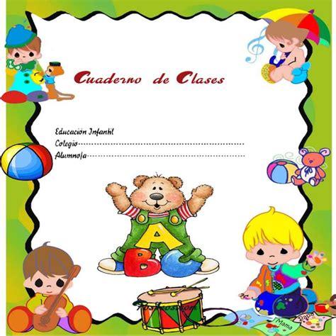 Caratulas Color Cuadernos Escolares Infantiles Dibujos