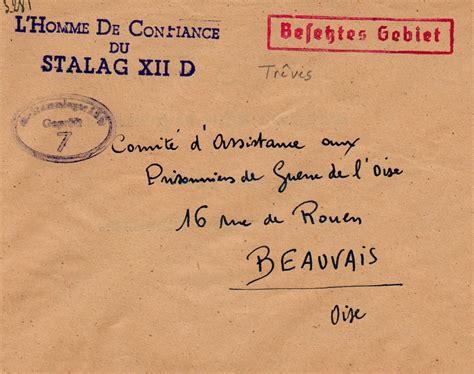 Abolition De La Lettre De Cachet 080 001 Lettre Du Stalag De Treves Pour La Cachet