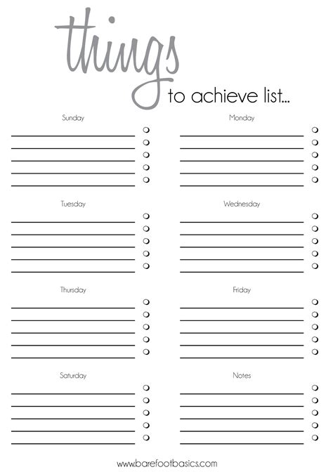 cool printable to do list to do list template rochelle stone barefoot basics