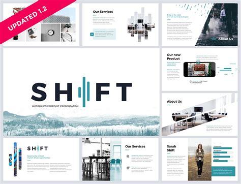 powerpoint design zum downloaden 简约现代公司业务资料图团队会议ppt模板 shift modern powerpoint template