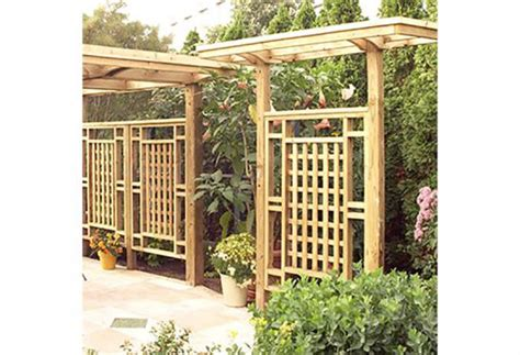 wood trellis plans free woodproject freestanding privacy screen trellis