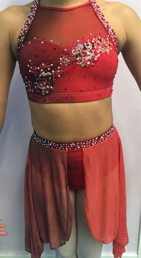 rhinestone pattern ideas for dance costumes scorched earth dip dyed custom ombre dance costume