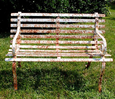 old garden bench how to paint rusty iron garden furniture the graphics