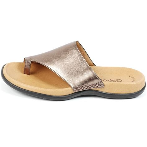 wide sandals gabor sandal lanzarote wide fit sandal in bronze