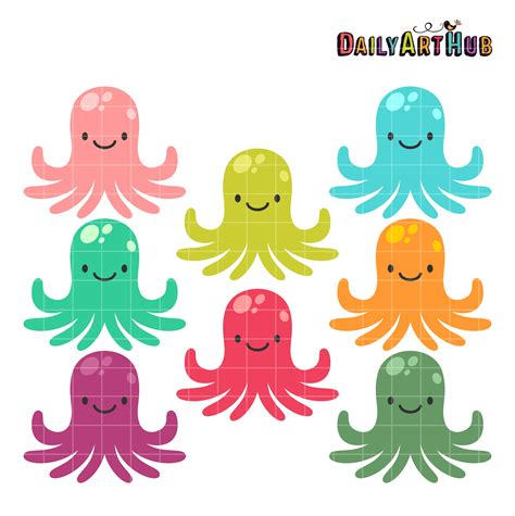 octopus clipart colorful octopus clip set daily hub free