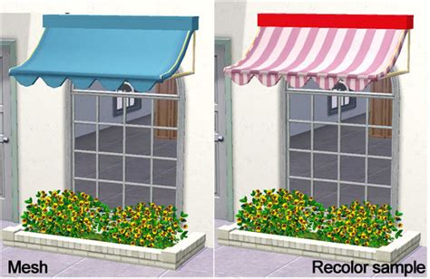 sims 3 awning mod the sims store window awning