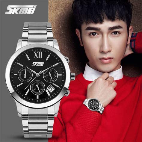 jam tangan pria quicksilver casual skmei jam tangan analog pria 9097cs black