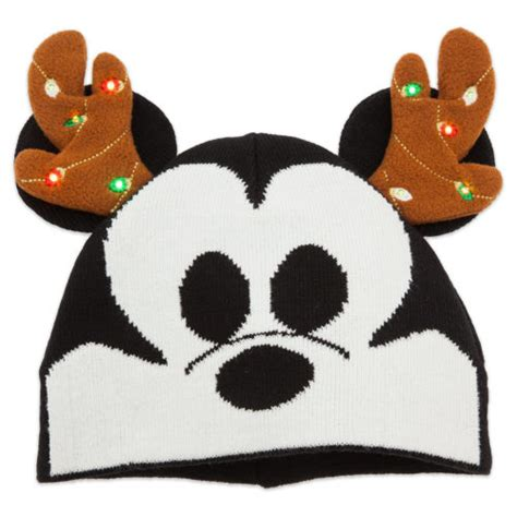 mickey lights up christmas the mickey mouse holiday light up beanie is festive fun