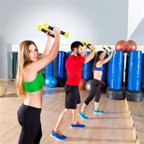 download video tutorial zumba zumba dance cardio people group at fitness gym stock image