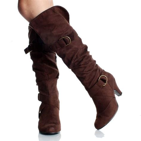 brown knee high boots knee highs and s heels on