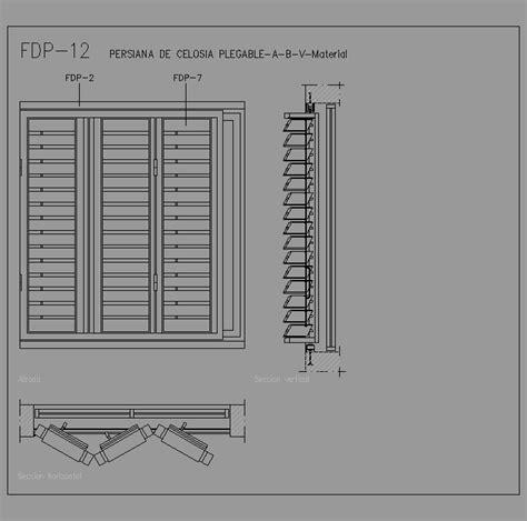 persiana dwg cad projects biblioteca bloques autocad fdp 12