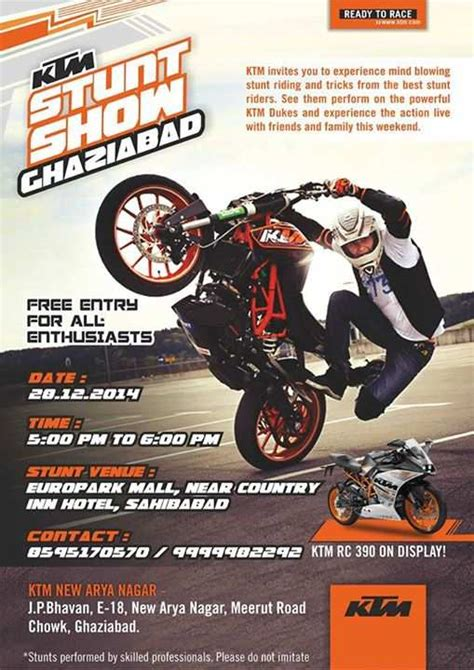 Ktm Events Ktm Stunt Show At Europark Mall Ghaziabad Events In