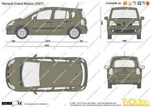 Renault Modus Dimensions The Blueprints Vector Drawing Renault Grand Modus