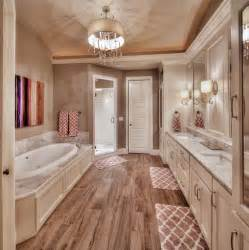 master bedroom and bathroom ideas master bathroom hardwood floors large tub his and